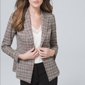NWT White House Black Market Plaid Blazer Jacket